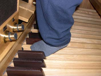 A look at the foot pedals